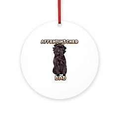 Affenpinscher Dad Ornament (Round)