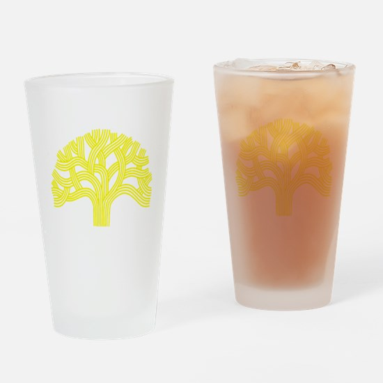 Oakland Tree Yellow Drinking Glass