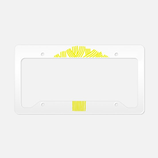 Oakland Tree Yellow License Plate Holder