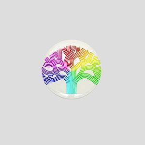 Oakland Tree Rainbow Mini Button