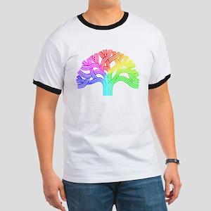 Oakland Tree Rainbow Ringer T