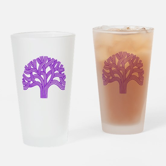 Oakland Tree Purple Drinking Glass