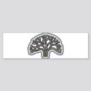 Oakland Tree Rainbow Halo Sticker (Bumper)