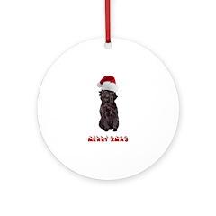 Affenpinscher Christmas Ornament (Round)