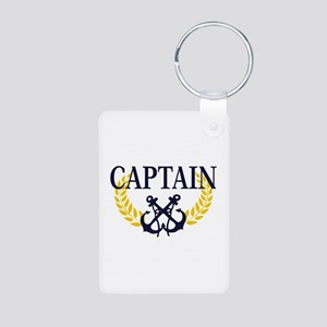 Captain Aluminum Photo Keychain