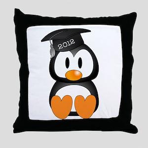 Custom Graduation Penguin Throw Pillow