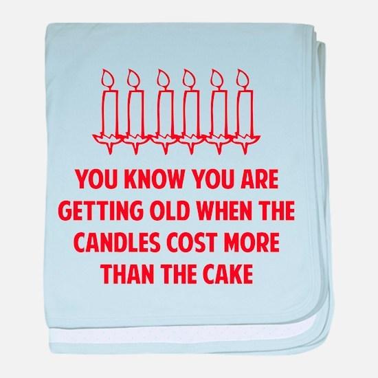 Birthday Candles baby blanket
