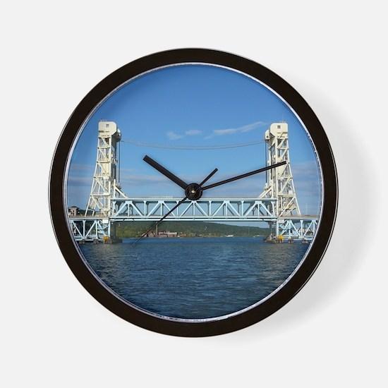 Portage Lake Lift Bridge Wall Clock