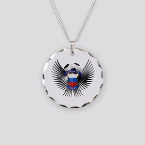 Russia 2012 Soccer Champions Necklace Circle Charm
