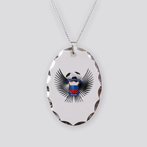 Russia 2012 Soccer Champions Necklace Oval Charm