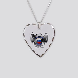 Russia 2012 Soccer Champions Necklace Heart Charm