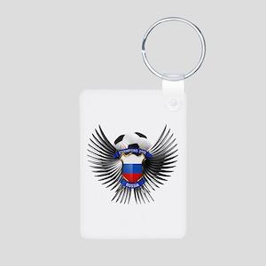 Russia 2012 Soccer Champions Aluminum Photo Keycha