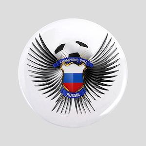 """Russia 2012 Soccer Champions 3.5"""" Button"""