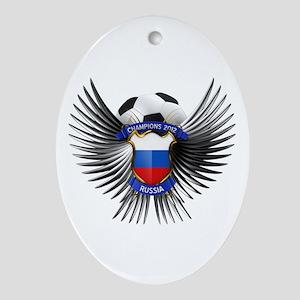 Russia 2012 Soccer Champions Ornament (Oval)