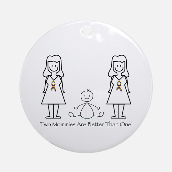 LGBT 2 Mommies Ornament (Round)