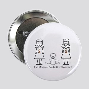 """LGBT 2 Mommies 2.25"""" Button"""