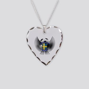 Sweden 2012 Soccer Champions Necklace Heart Charm