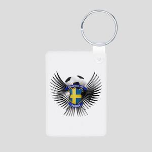 Sweden 2012 Soccer Champions Aluminum Photo Keycha