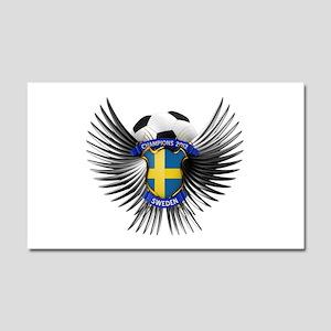 Sweden 2012 Soccer Champions Car Magnet 20 x 12