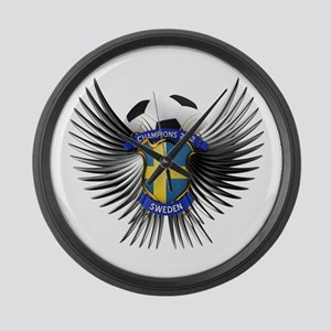 Sweden 2012 Soccer Champions Large Wall Clock