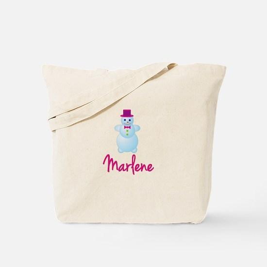 Marlene the snow woman Tote Bag