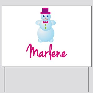 Marlene the snow woman Yard Sign