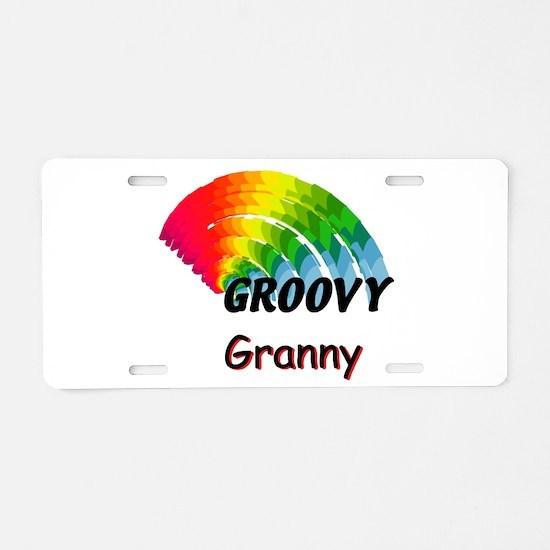 Groovy Granny Aluminum License Plate