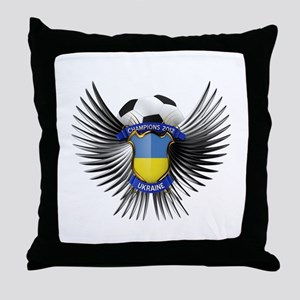 Ukraine 2012 Soccer Champions Throw Pillow