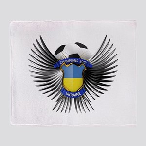 Ukraine 2012 Soccer Champions Throw Blanket