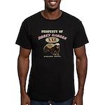Property of Honey Badger Men's Fitted T-Shirt (dar