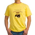 Property of Honey Badger Yellow T-Shirt