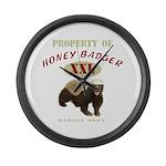 Property of Honey Badger Large Wall Clock