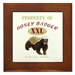Property of Honey Badger Framed Tile