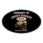 Property of Honey Badger Sticker (Oval 10 pk)