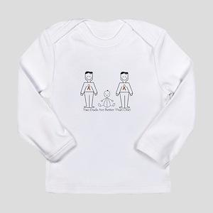 2 Dads (LGBT) Long Sleeve Infant T-Shirt