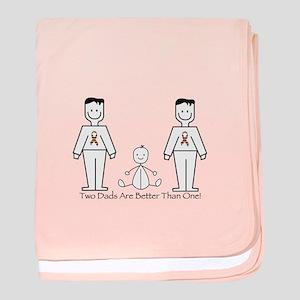 2 Dads (LGBT) baby blanket