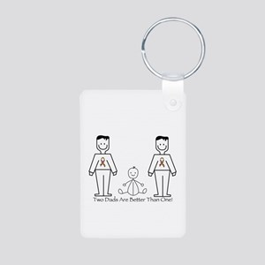 2 Dads (LGBT) Aluminum Photo Keychain