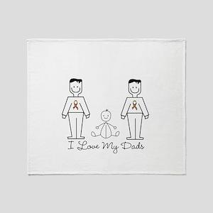Love My Dads (lgbt) Throw Blanket
