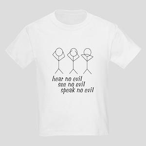 Hear No Evil Stick Figures Kids Light T-Shirt