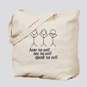Hear No Evil Stick Figures Tote Bag