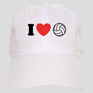 I Love Volleyball Cap