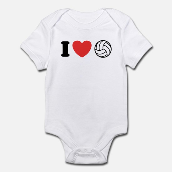 I Love Volleyball Infant Creeper
