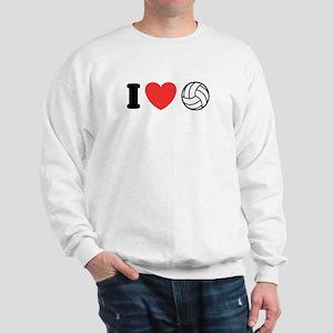 I Love Volleyball Sweatshirt