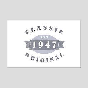1947 Classic Original Mini Poster Print
