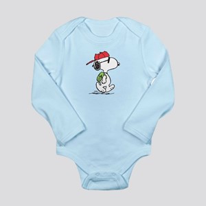 Snoopy Backpack Long Sleeve Infant Bodysuit