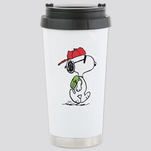 Snoopy Backpack 16 oz Stainless Steel Travel Mug