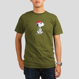 Snoopy Backpack Organic Men's T-Shirt (dark)