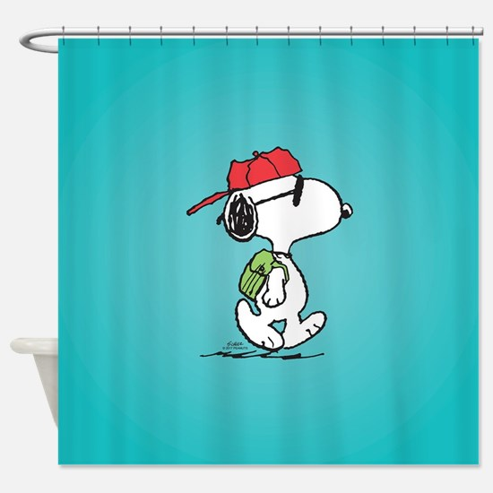 Snoopy Backpack Shower Curtain