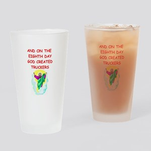 truckers Drinking Glass