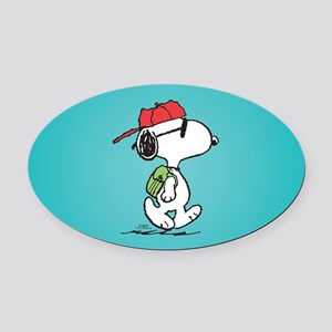 Snoopy Backpack Oval Car Magnet